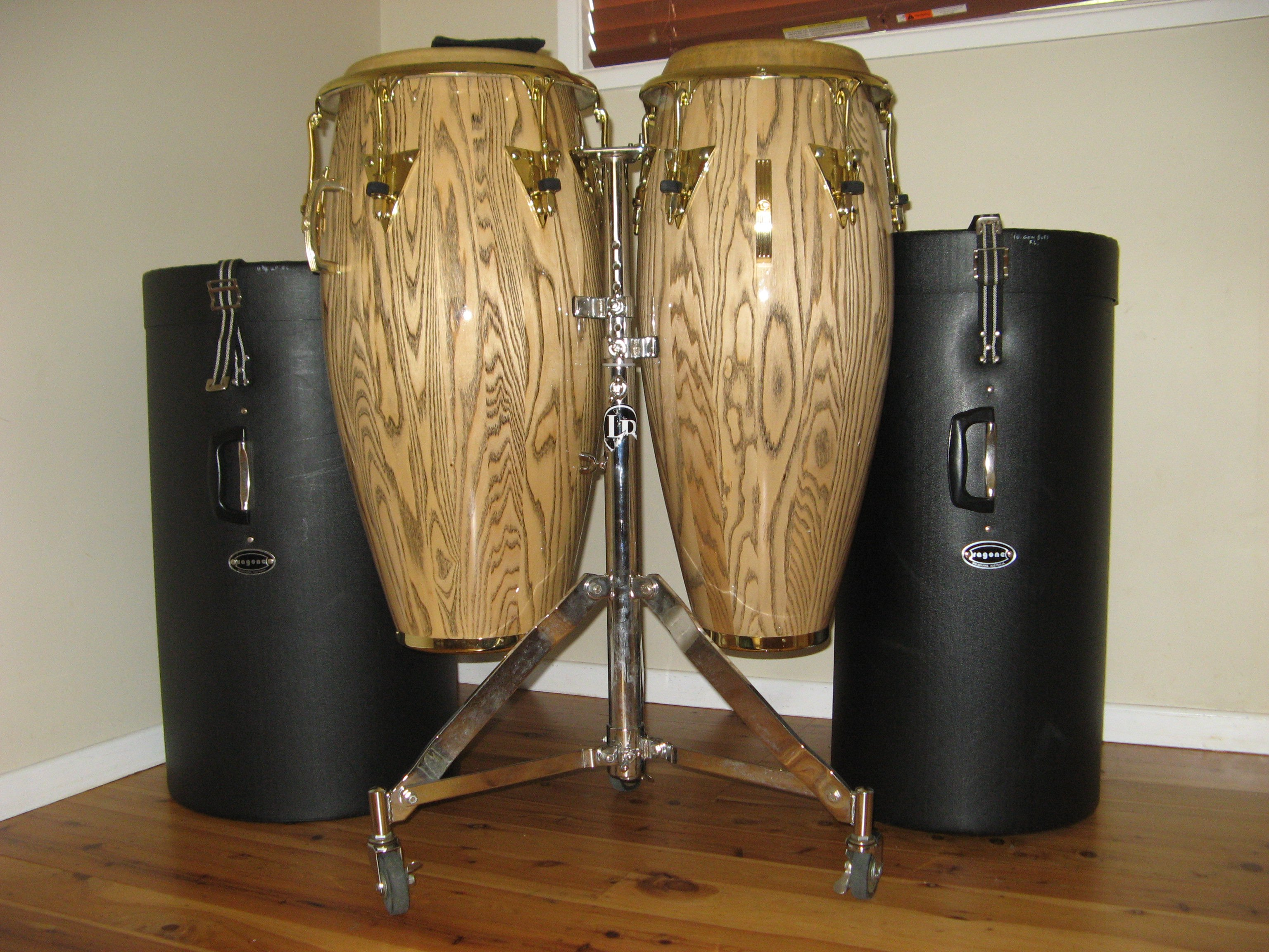 FOR SALE: LP Galaxy Giovanni Congas w/ Stand and Hard Cases