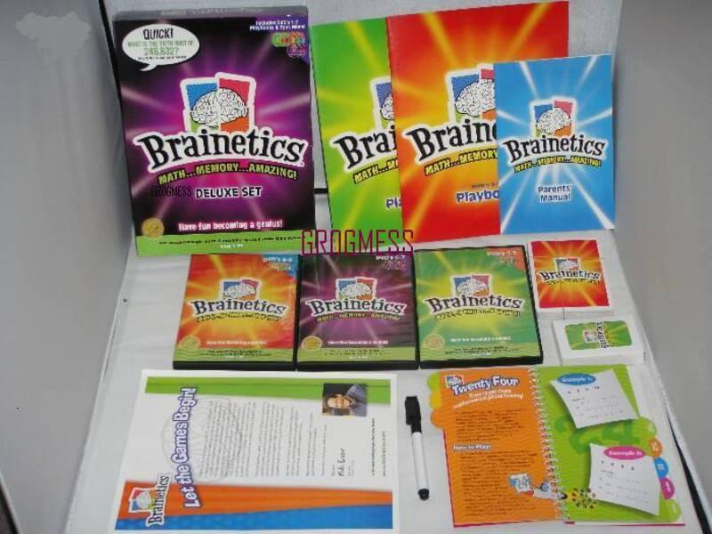 FOR SALE: Brainetics Maths & Memory System - complete deluxe set