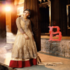 FOR SALE: Beige Designer Long Koti Lehenga