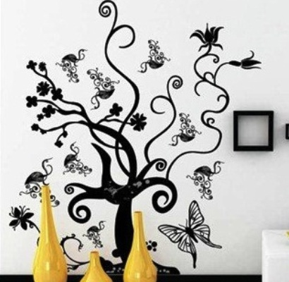 FOR SALE: TREE AND BUTTERFLY WALL DECAL.