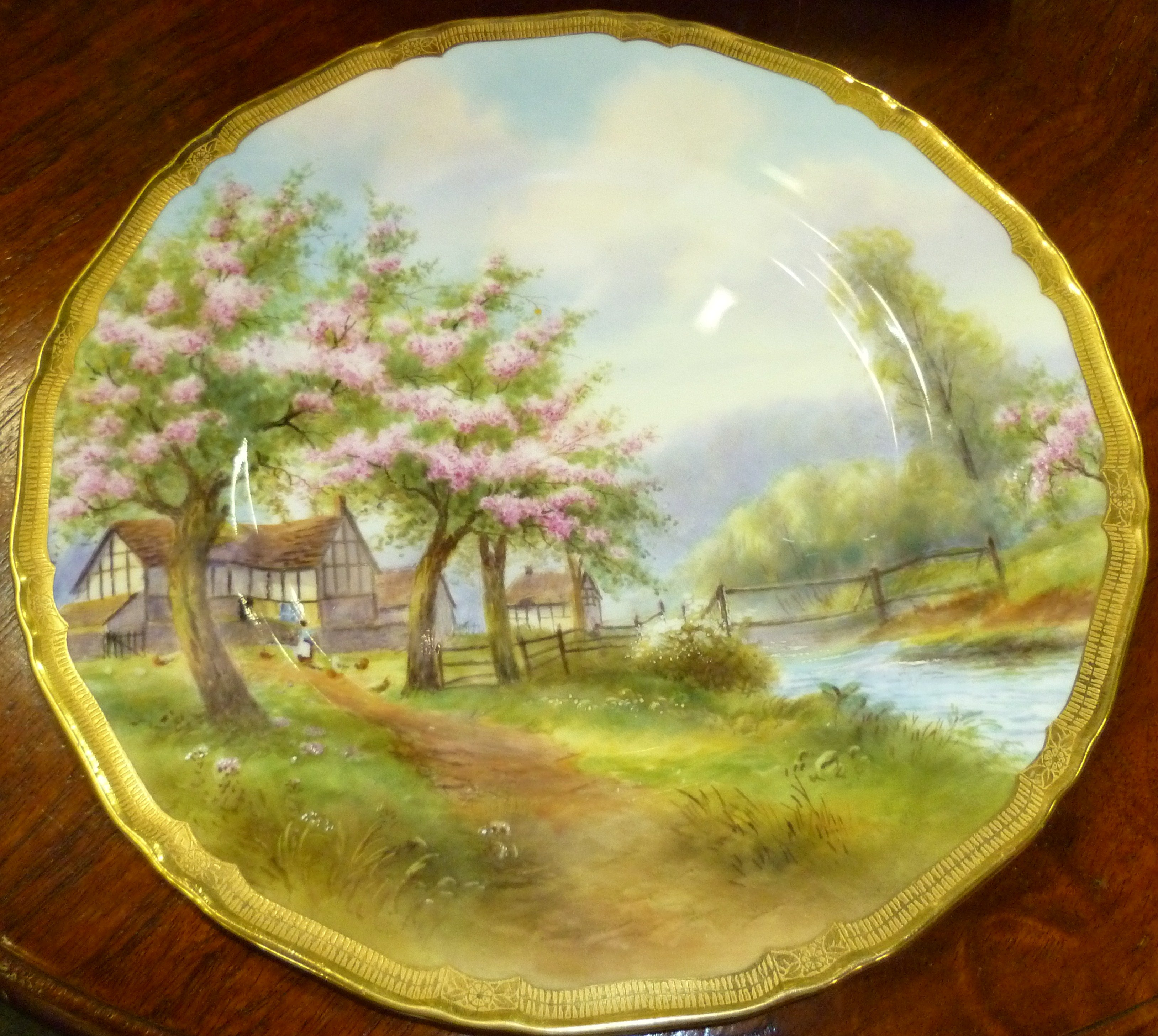 FOR SALE: Royal Worcester Cabinet Plate - Stunning and Rare
