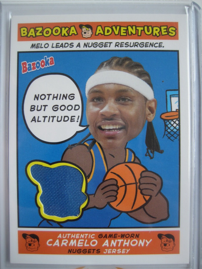 FOR SALE: Carmelo anthony nuggets 04-05 bazooka adventures jersey