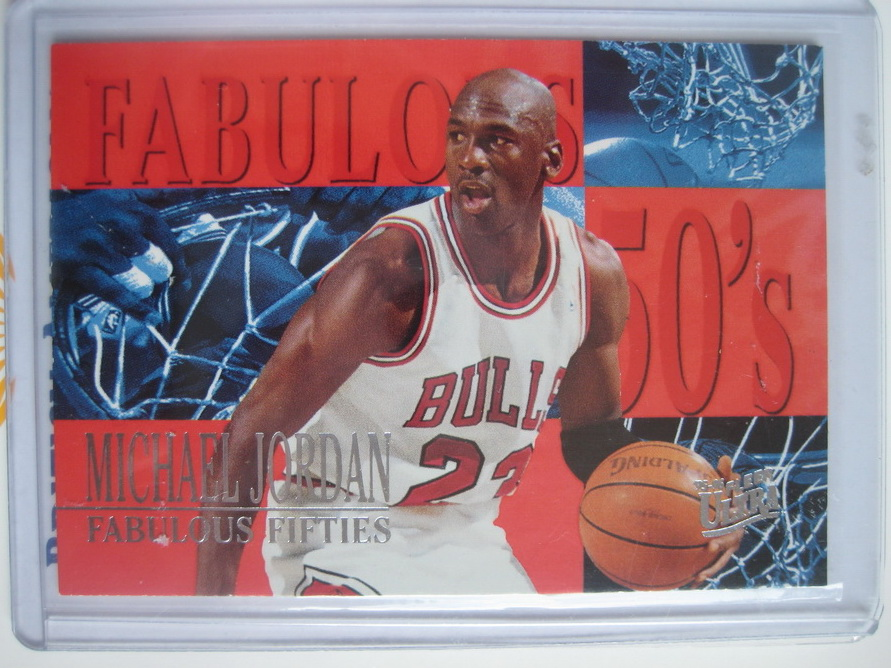 FOR SALE: Michael jordan 95/96 fleer ultra fabulous fifties #5of7