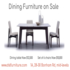 FOR SALE: Dining furniture on sale