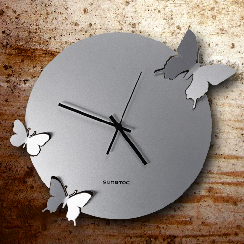 FOR SALE: Dynamic Metal Butterfly Clock