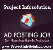 OFFERED: Project Infosolution - Online Ad Posting Copy Paste Work - Patna