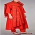 FOR SALE: Buy Red Cotton Bandhani Kurta with Pants and Dupatta Online at Bandhej.com