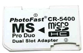 FOR SALE: PhotoFast CR-5400 MicroSD to MS Pro Duo Adapter Dual Slot