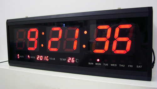 FOR SALE: Red LED Digital Wall Clock