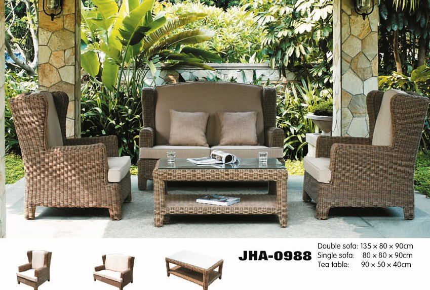 FOR SALE: Outdoor wicker sofa set from decon designs