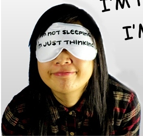FOR SALE: Relaxing Eye Mask - I'm Not Sleeping I'm Just Thinking