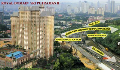 FOR RENT / LEASE: SRI PUTRAMAS II [THE ROYAL DOMAIN]