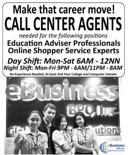 ANNOUNCING: START YOUR CAREER NOW APPLY ONLINE CALL CENTER AGENTS