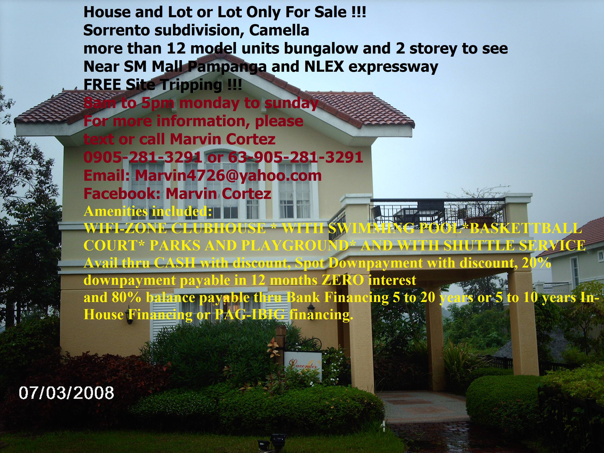 FOR SALE: house and lot for sale. near SM Mall Pampanga and Marquee Mall Angeles City