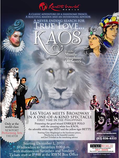 FOR SALE: KAOS Philippine Broadway Musical