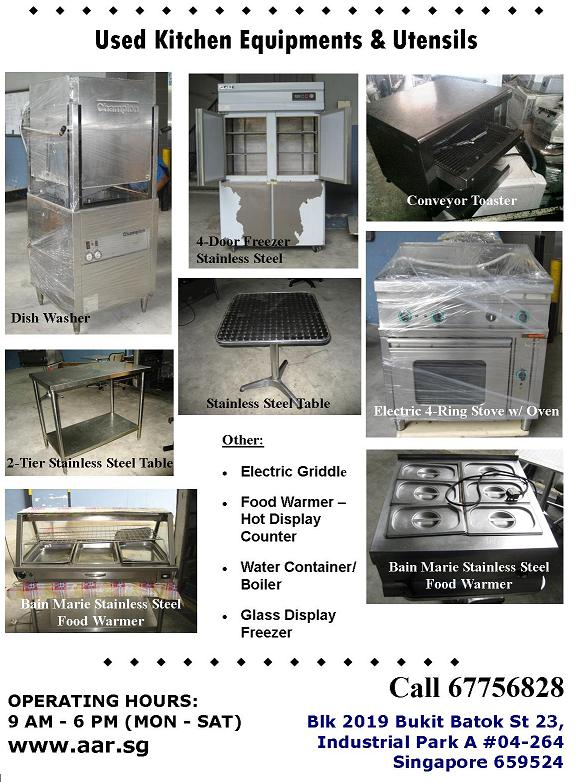 FOR SALE: Used Kitchen and Utensils Equipment for Sales