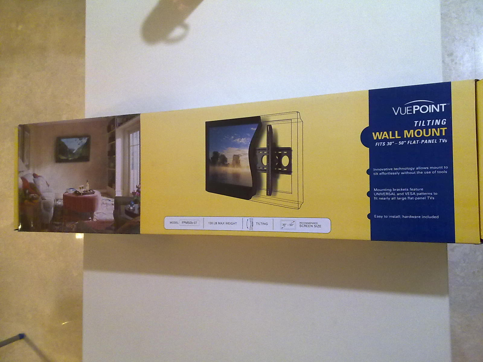 FOR SALE: -- -  VUEPOINT Tilting Wall Mount FPM50b-07 for Plasma, LED & LCD TV for sale