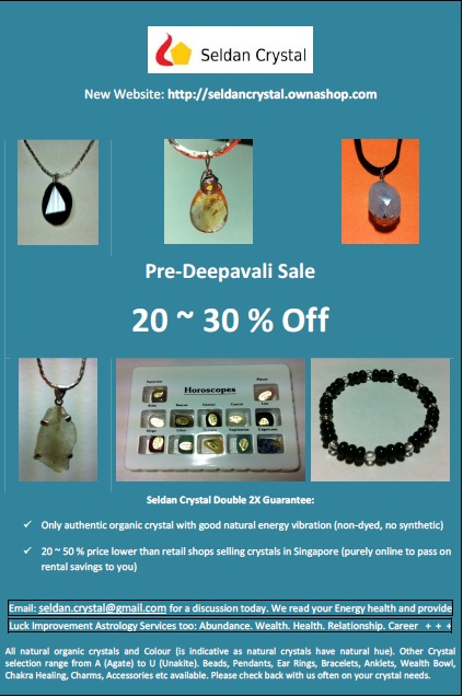 OTHER: Pre-Deepavali Sale, 20 ~ 30 % Off