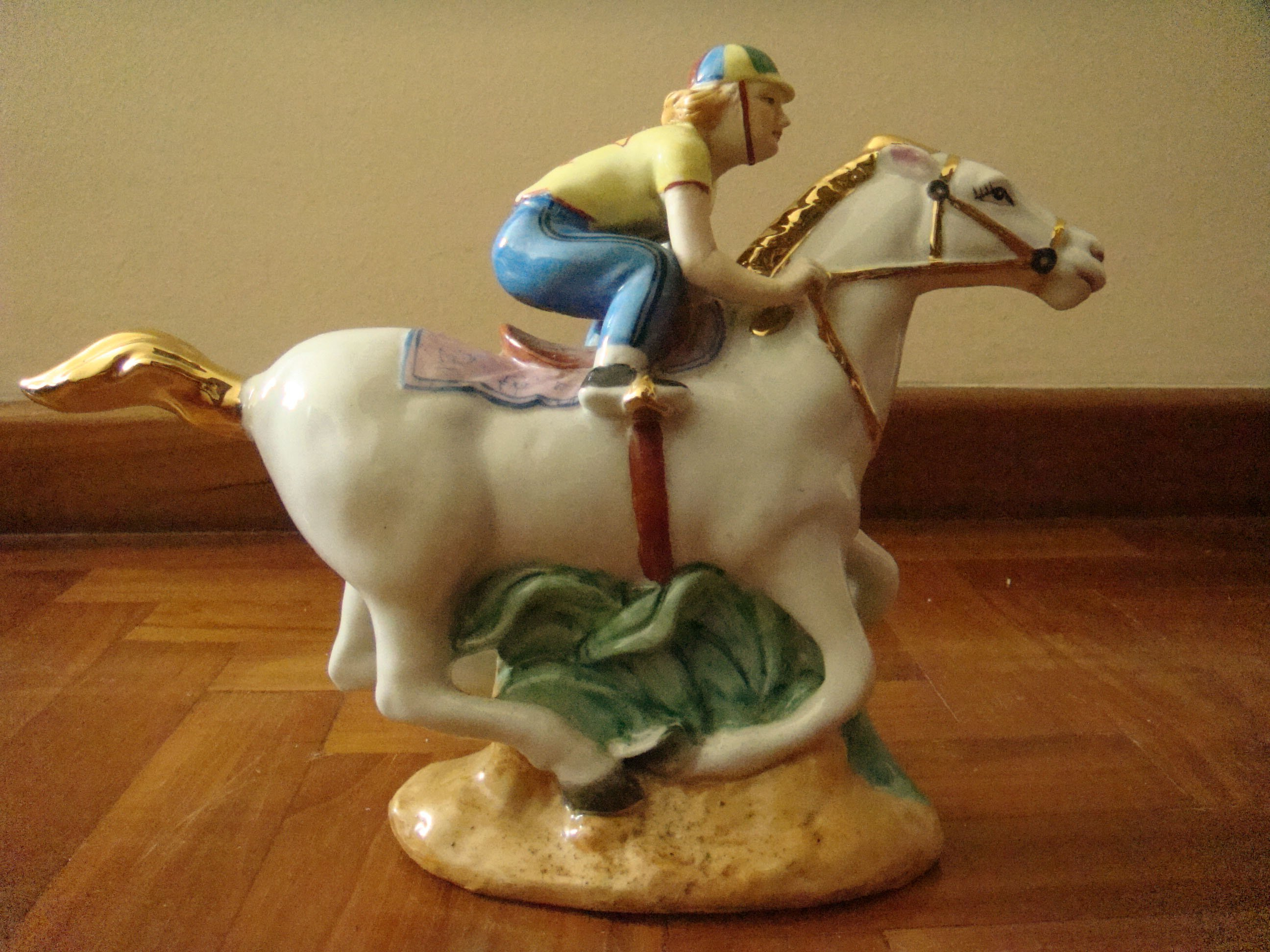 FOR SALE: Glass Jockey horse Ornament