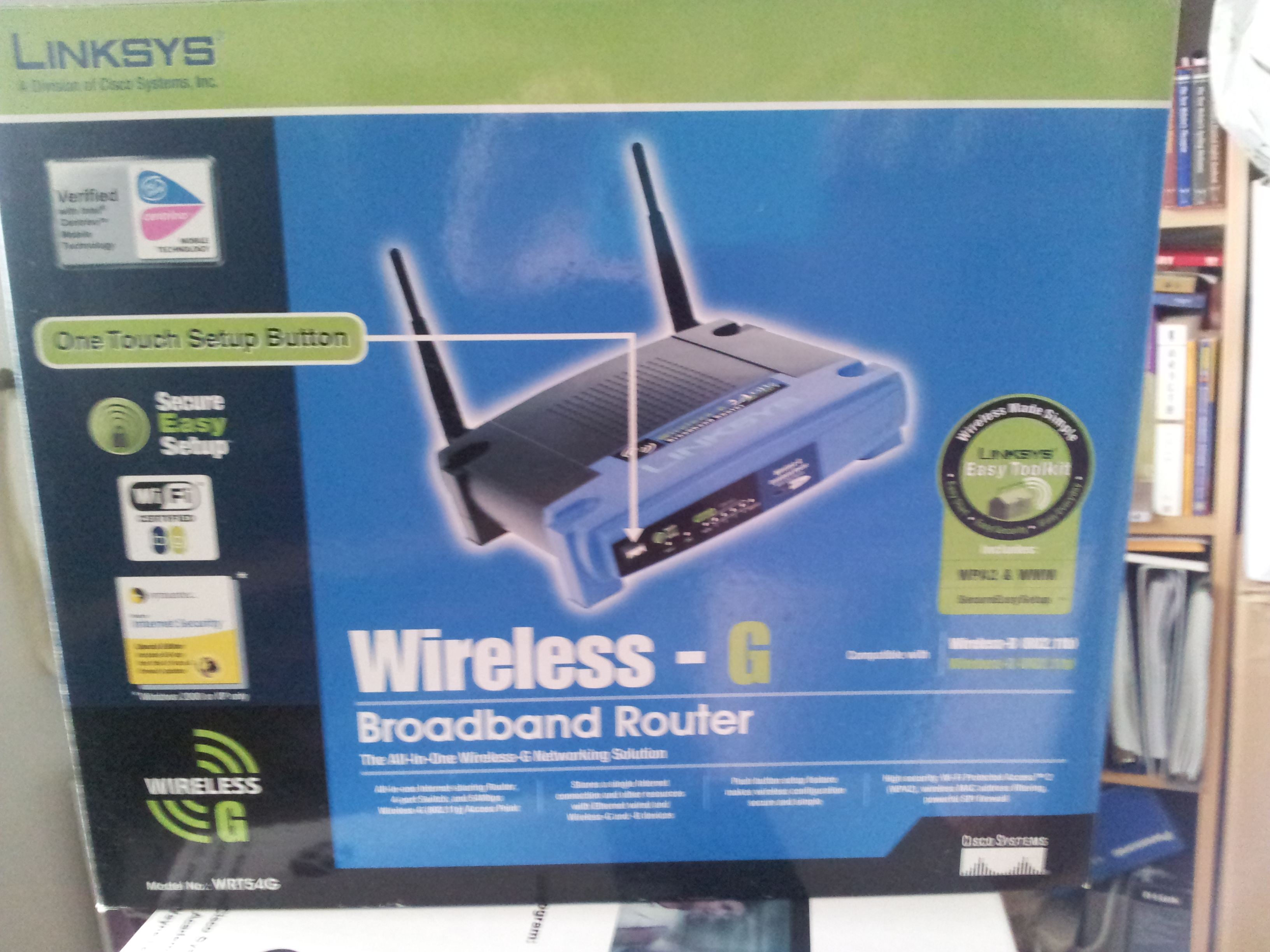 FOR SALE: Linksys Wireless G Broadband Router