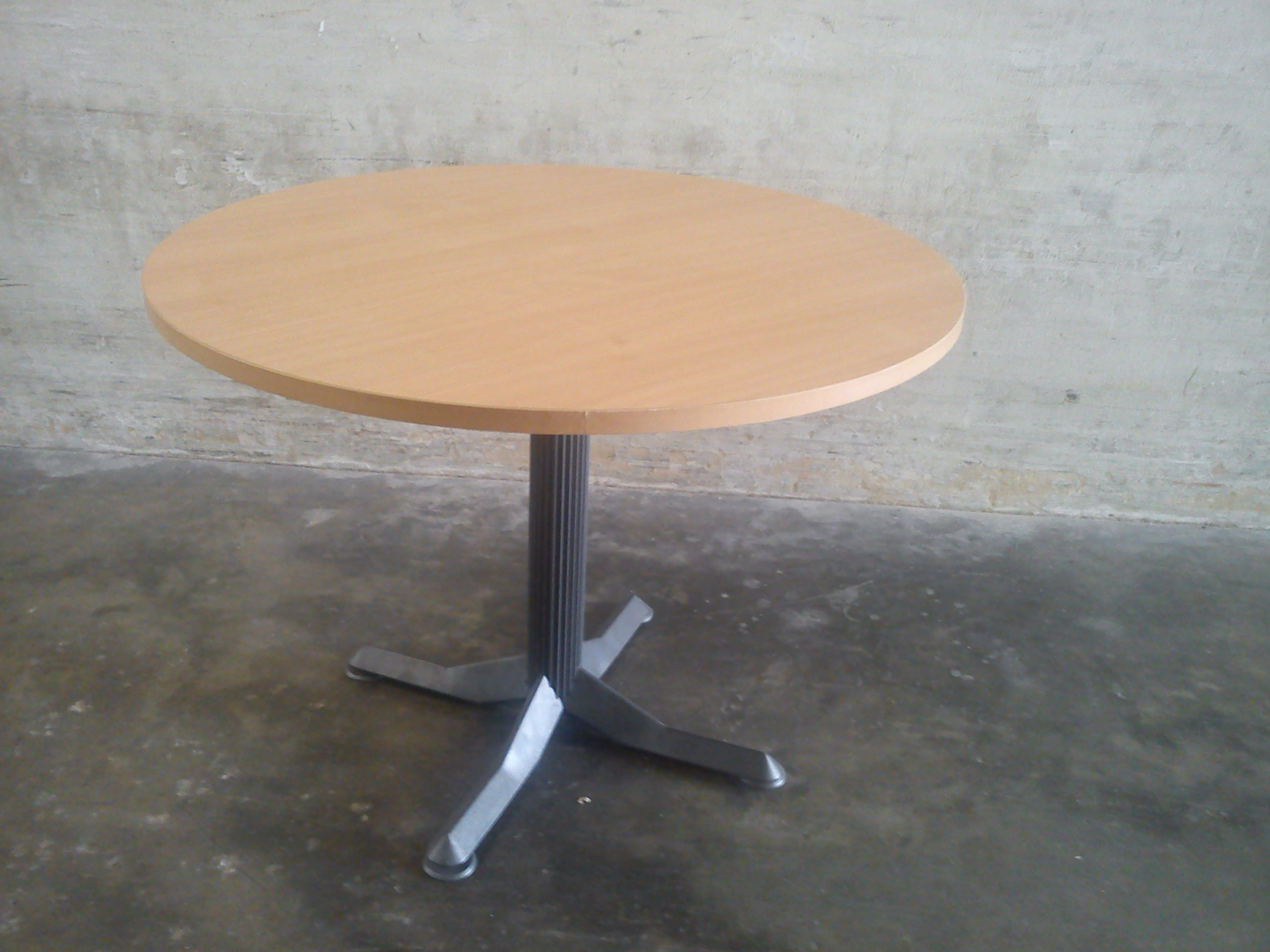 FOR SALE: Round Glass Table, 3ft diameter, with metal stand, Granite top 4ft dia