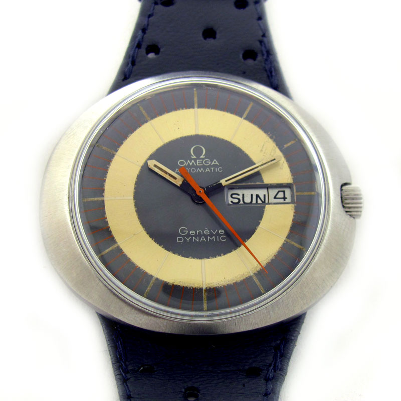 FOR SALE: OMEGA GENEVE DYNAMIC DAY DATE AUTOMATIC WATCH