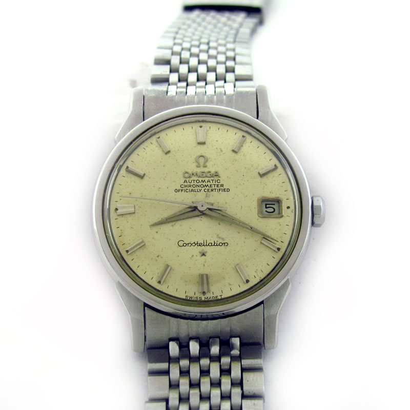 FOR SALE: OMEGA CONSTELLATION CHRONOMETER DATE AUTOMATIC WATCH