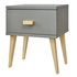 FOR SALE: Bedside Table Nightstand Solid Pinewood Grey Large Drawer Scandinavian Design