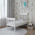 FOR SALE: Solid Wood Single Bed Frame for Children white slatted with slats furniture