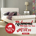 FOR SALE: Sareer Richmond White Leather Bed Only on £199.99 ~p~ FURNITURE DIRECT UK
