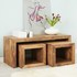 FOR SALE: Indian Hub Toko Light Mango John Long Cubed Coffee Table Set