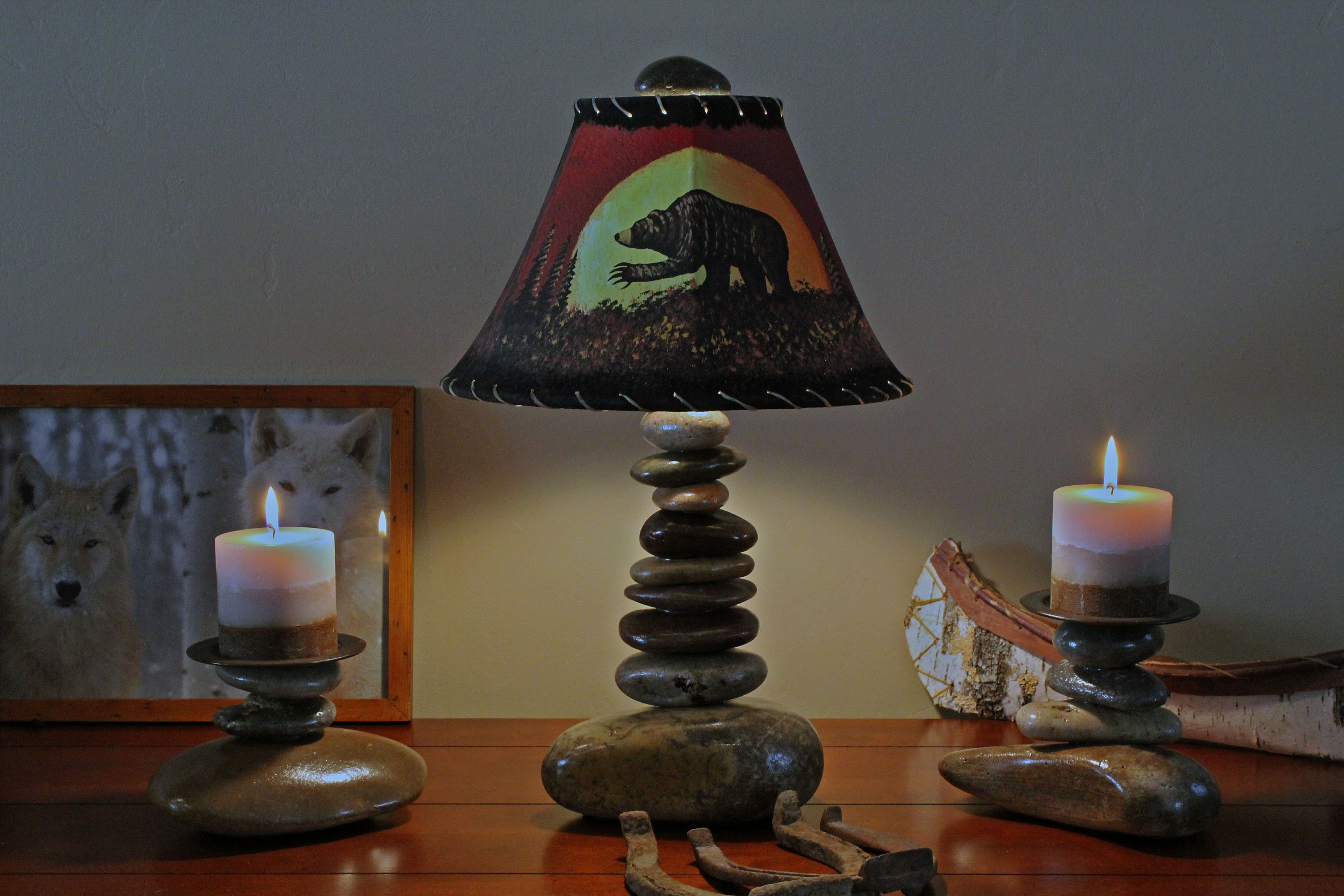 FOR SALE: Beautiful Stone Lamps and Candle Holders