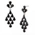 FOR SALE: Black Diamond Shaped Dangle Earring For Sale ~p~ Inspired Silver