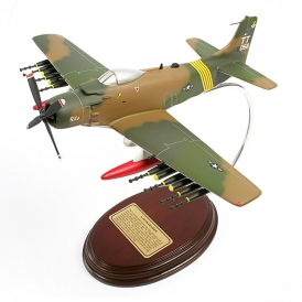 FOR SALE: A-1H Skyraider USAF Wood Model Airplane